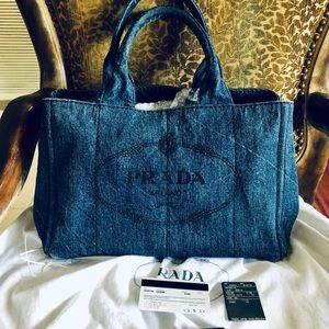 Authentic Prada Canapa denim
